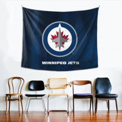 Custom NHL Winnipeg Jets tapestry 60*51inch #153203 Home Decoration For Outdoor Use