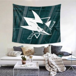 Wall Hangings San Jose Sharks tapestry 60*51inch #151159 Can Be As A Decoration